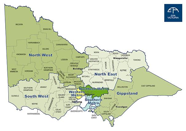 Map of EPA regions