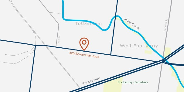 Map of West Footscray fire